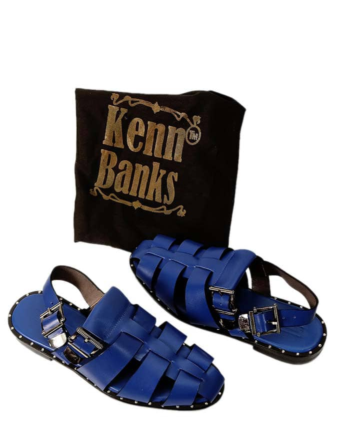 Matured Men Studded Sandal - Blue
