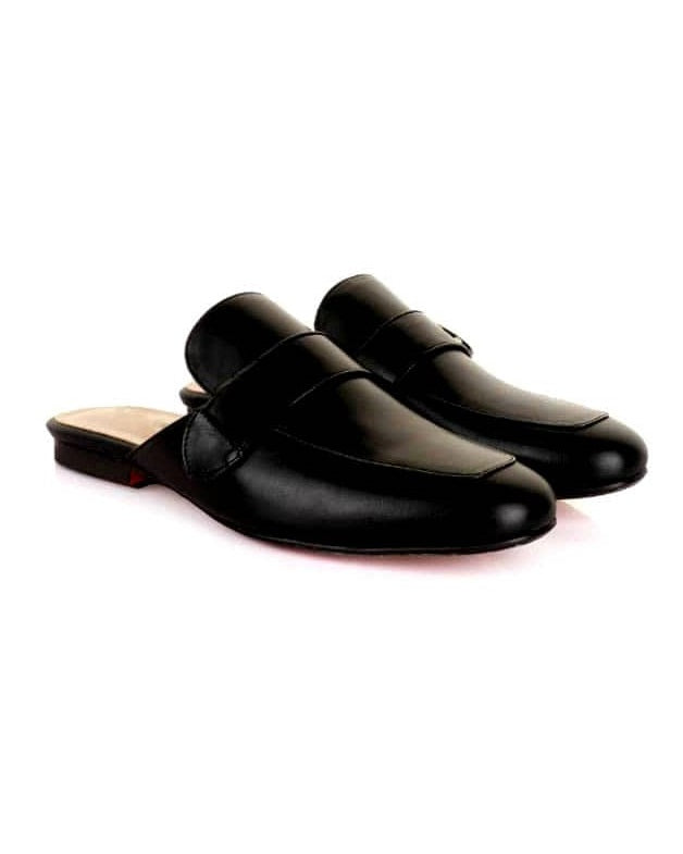 Mens Side Buckle Halfshoe Mule