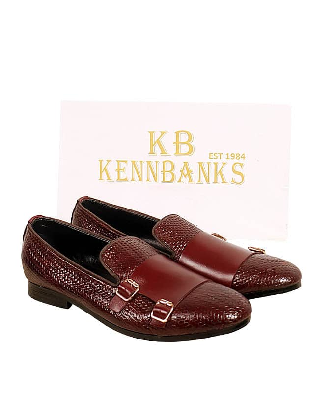 Kenn Banks Basket Leather Double Monk Strap -