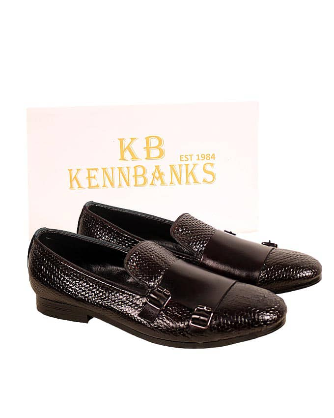 Kenn Banks Basket Leather Double Monk Strap