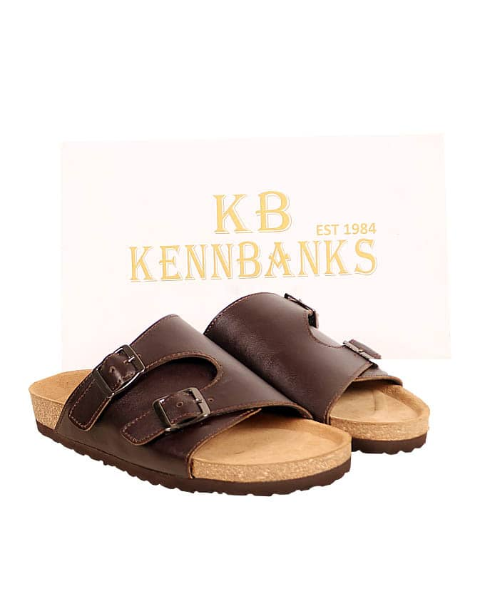 Kenn Banks Brown Leather Double Monk Strap