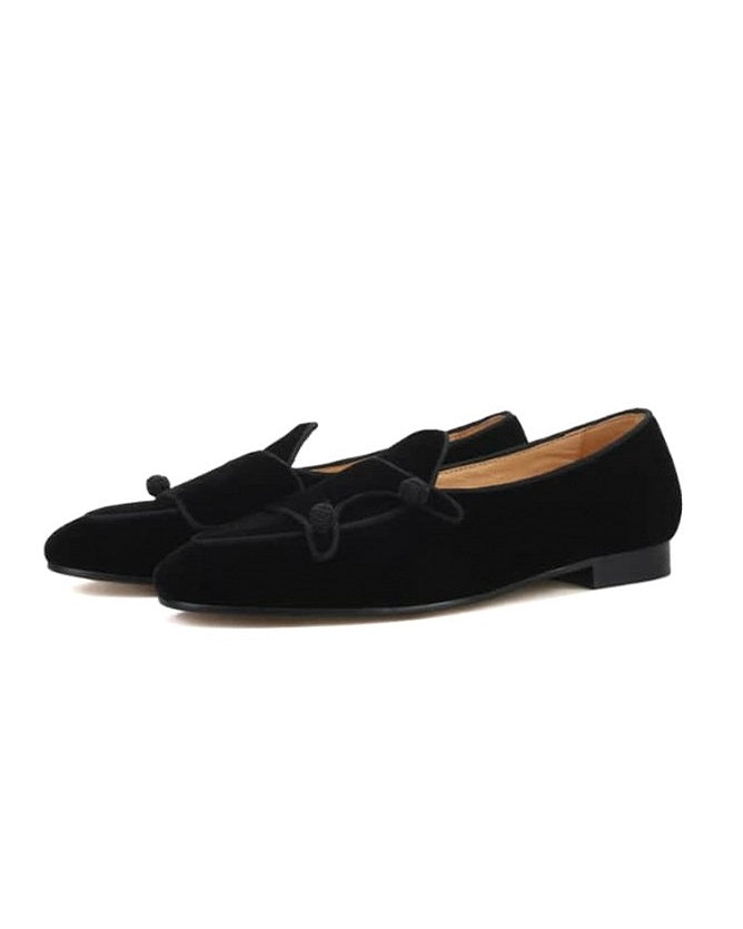 MEN'S SUEDE DOUBLE MONKSTRAP LOAFERS