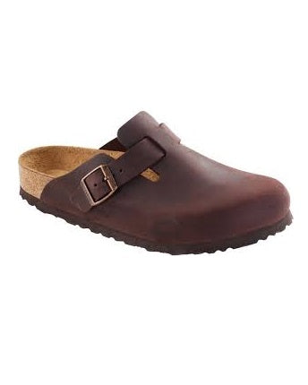 MENS BROWN LEATHER HALFSHOE SLIPPERS