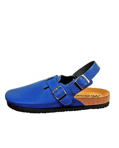 MATURE MEN HALF SHOE SANDAL - BLUE