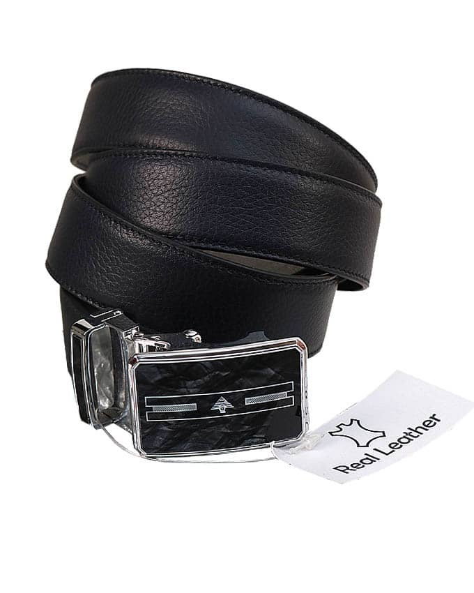 MEN'S SOFT ITALIAN LEATHER BELT - NAVY BLUE