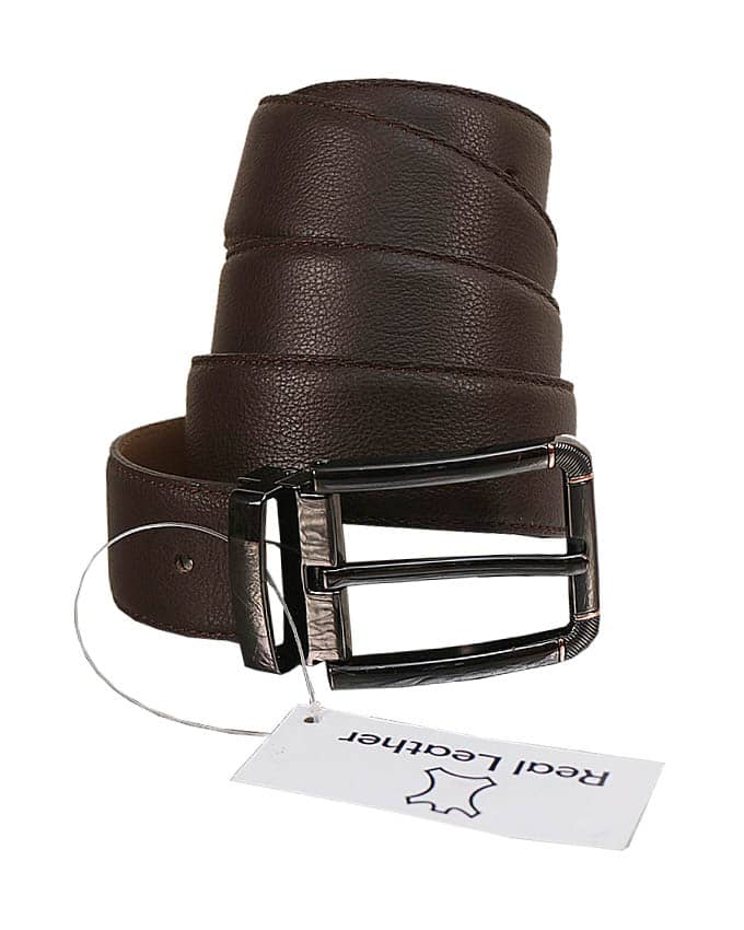 MEN'S SOFT ITALIAN LEATHER BELT - BROWN