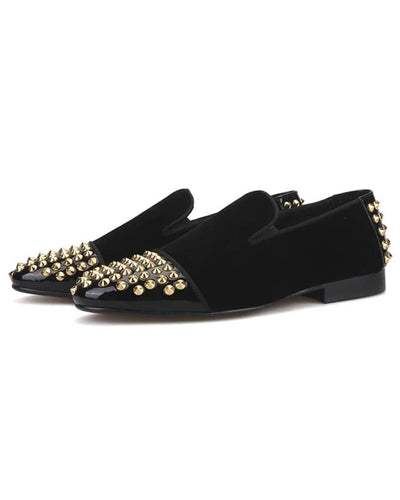 Senior Men Studded Loafers