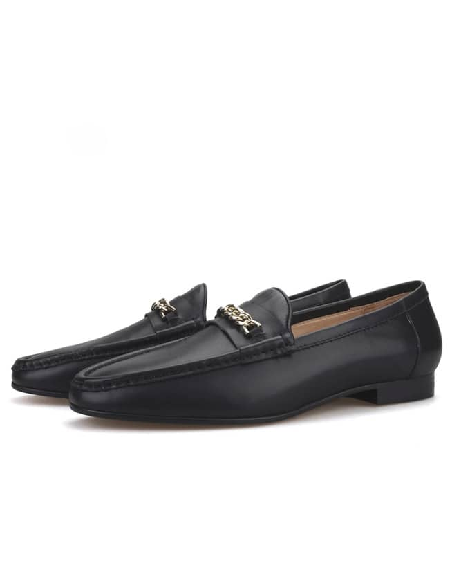 Senior Men Pure Chain Detail Loafers