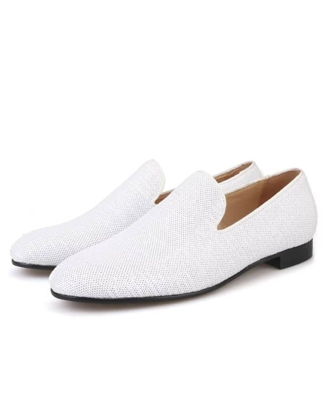 Men Exquisite White Loafers