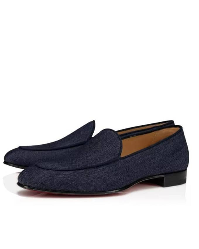 SENIOR MEN DENIM BELGIAN LOAFERS