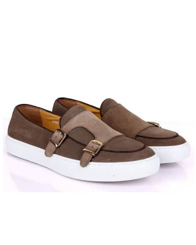 CLASSIC MEN SUEDE DOUBLE MONKSTRAP SNEAKERS