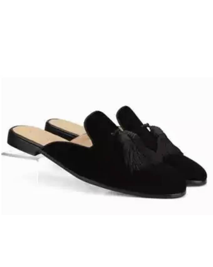 MEN'S EXQUISITE SUEDE TASSEL MULES