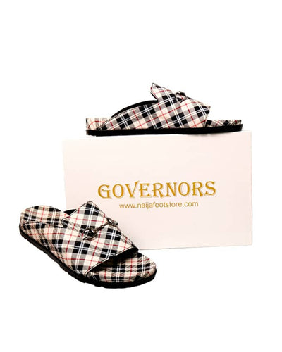 GOVERNORS OFF WHITE CHECK THEME SLIDES