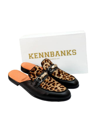 Senior Men Leopard Skin Mule