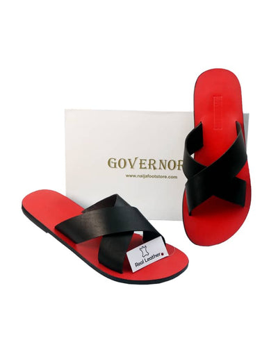 GOVERNORS COVER SLIPPERS WITH RED INSOLE