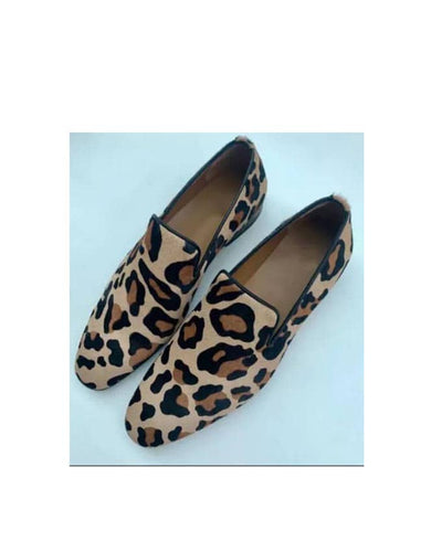 MENS LEOPARD SKIN LOAFER