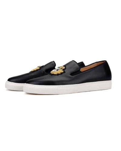 KENN BANKS MEN LEATHER SNEAKERS