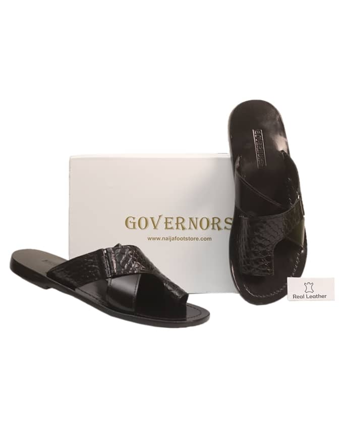 GOVERNORS ONE TOE SLIPPERS WITH CROCODILE OVERLAY