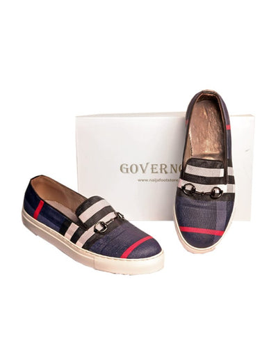 Governors Blue Check Plimsolls