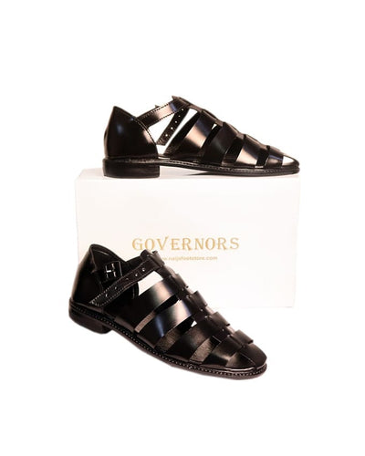 Full Black Reck Governors Sandals