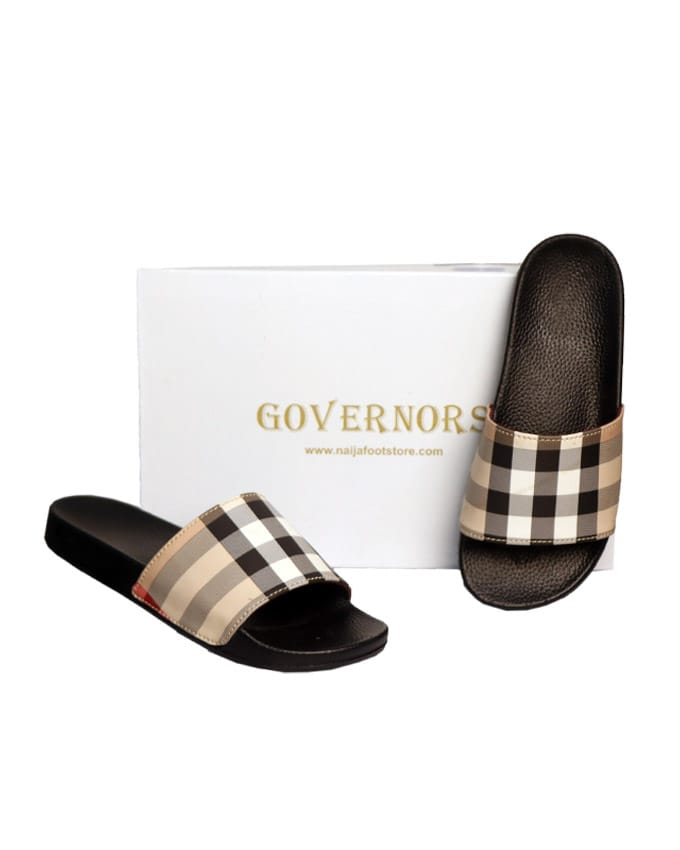 Governors Check Fold Slippers