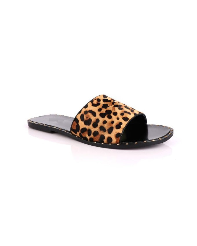 GOVERNORS LEOPARD SKIN SLIPPERS
