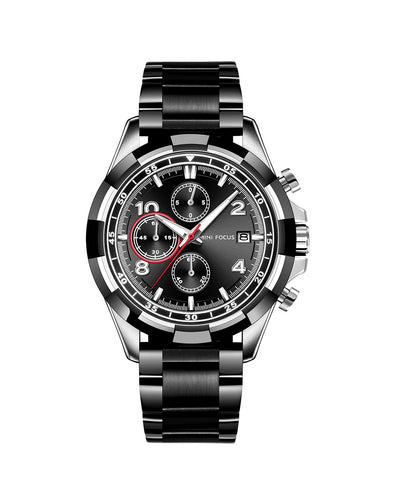 Black and Silver Luxury Watch