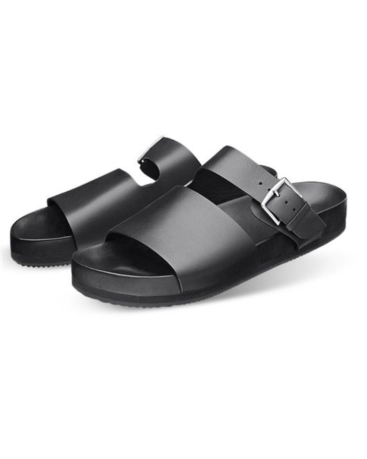 GOVERNORS OVER COVER BUCKLE SLIDES - BLACK