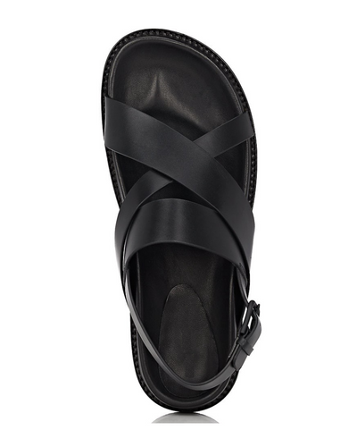 GOVERNORS CRISS CROSS SANDALS - BLACK