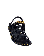 Crowned Gold studded sandals
