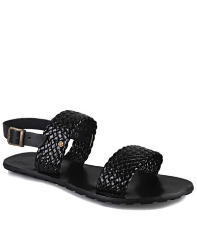 Black Netted Sandals