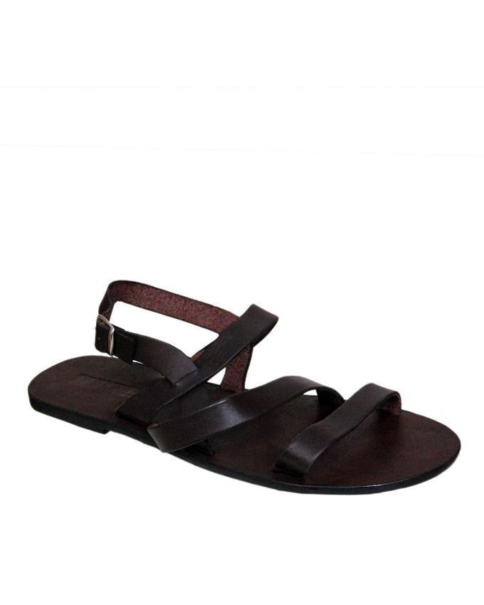 Two Tone Wing Strap Leather Sandals