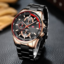 Black and Gold Luxury Fashion Watch