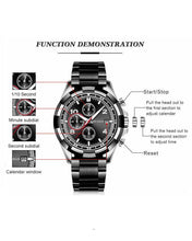 Black and Rose Gold Round Dial Business Watch
