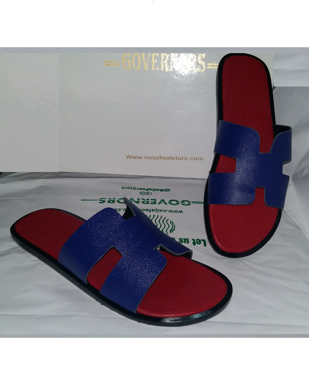 Red and Blue Governors H Slides