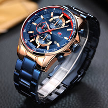 Blue and Gold Luxury Fashion Watch