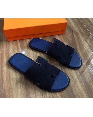 Governors Suede Blue H Slides Slippers