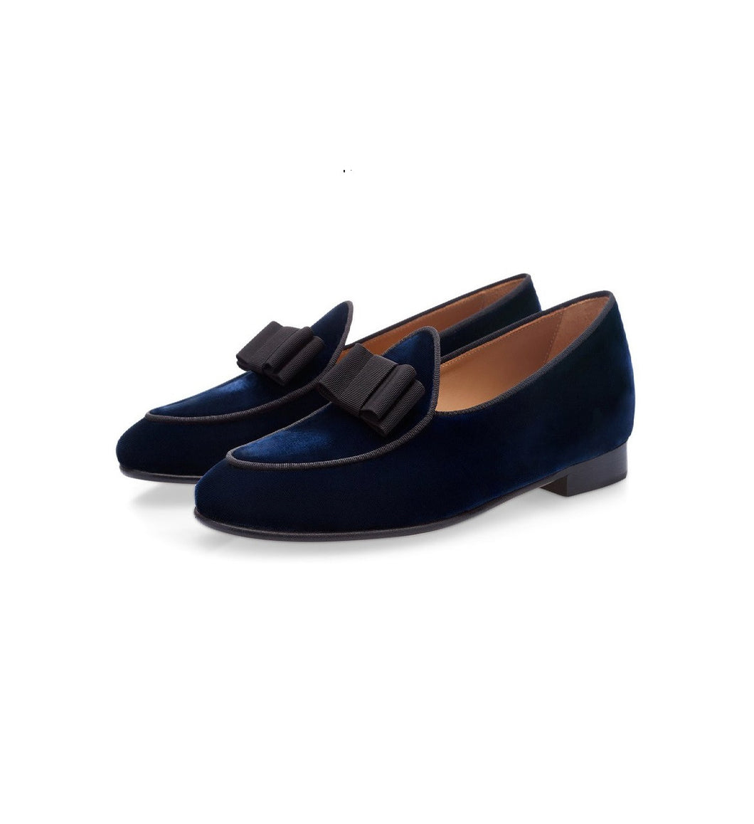 Blue grained Belgian Loafers for men