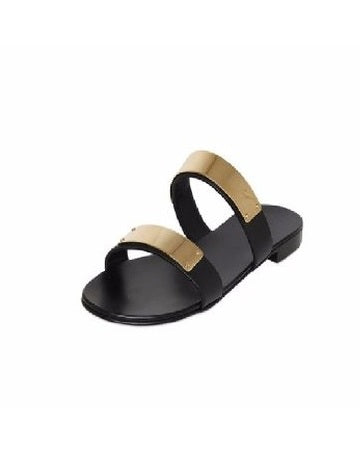 Double Strapped Gold Plated Sandals