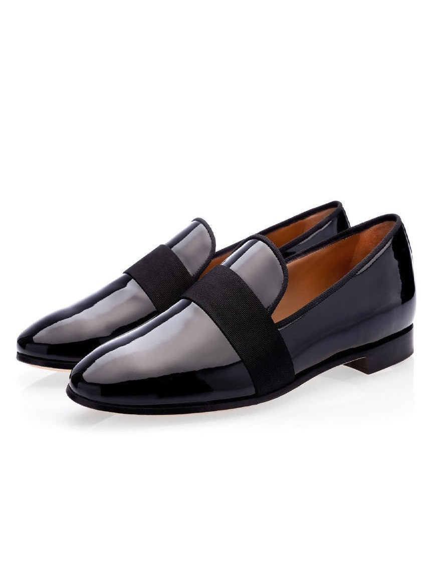 Male Black Patent Loafers