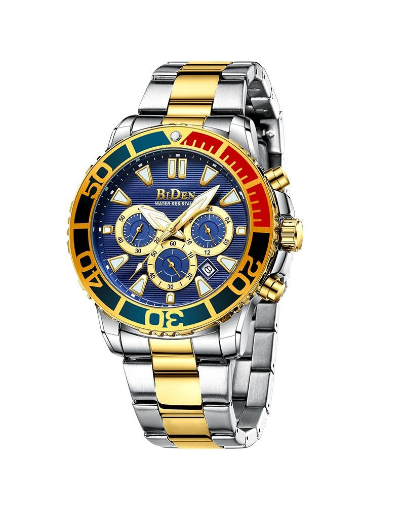 BIDEN SUBMARINE HOMAGE LUXURY WATCH - MULTICOLOUR DIAL DETAIL (PREORDER ONLY)
