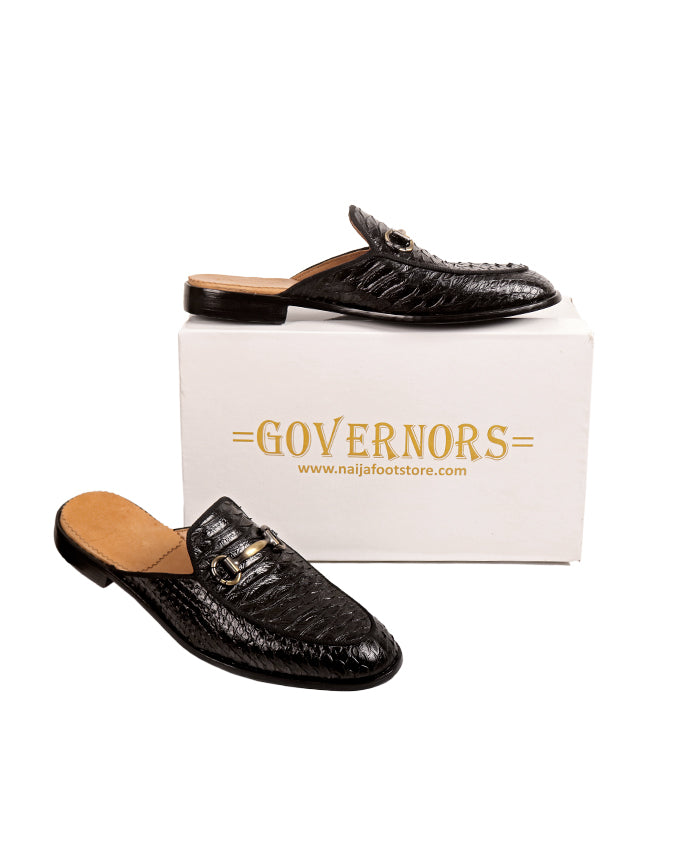 GOVERNORS SCALE SKIN LEATHER HALF SHOES