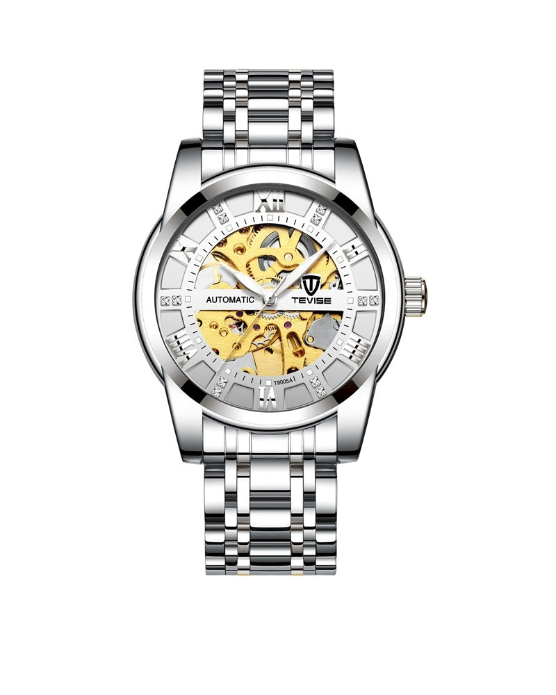 Luxury Mechanical Time piece - Silver (PRE ORDER ONLY)