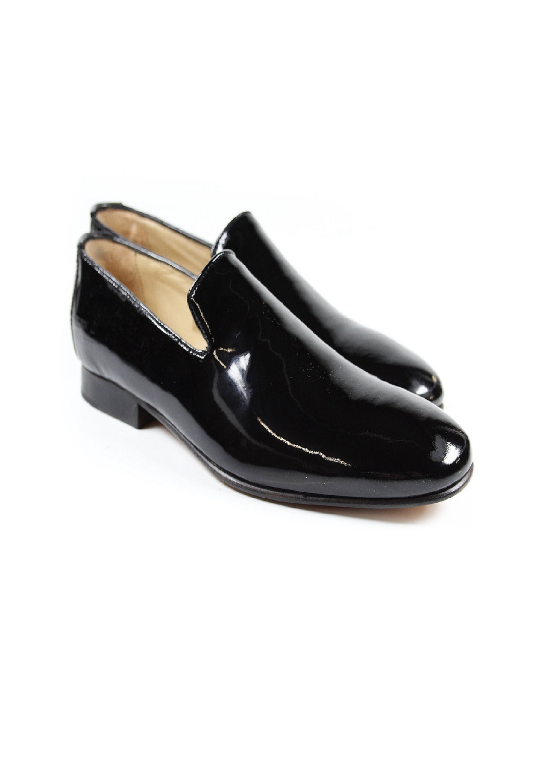 Pure patent leather shoes for men