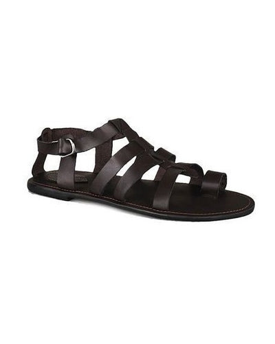 Chocolate black one toe gladiator sandals