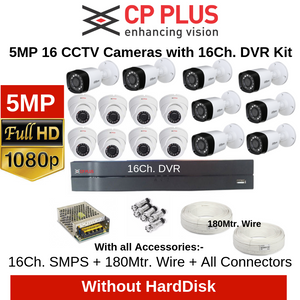 CP Plus 5MP 16 CCTV Cameras with 16Ch. DVR Combo Kit
