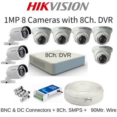 Hikvision 1MP 8 Cameras with DVR Combo Kit