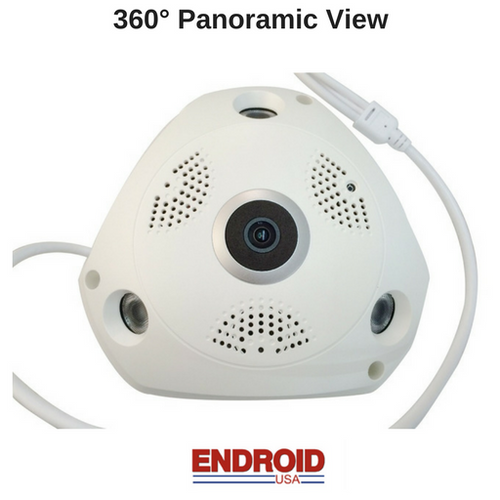 Wireless 360° Panoramic View HD CCTV Camera with 2 Way Audio - Security System Store