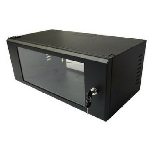 4U Rack Cabinet for DVR-NVR (Wall Mountable with Lock) - Security System Store