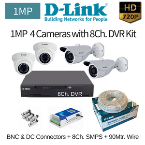 D-Link 1MP 4HD CCTV Camera with 8Ch. DVR Combo Kit - Security System Store